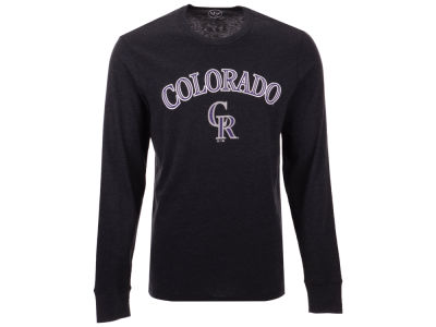 Colorado Rockies MLB Men's Super Rival Long Sleeve T-Shirt