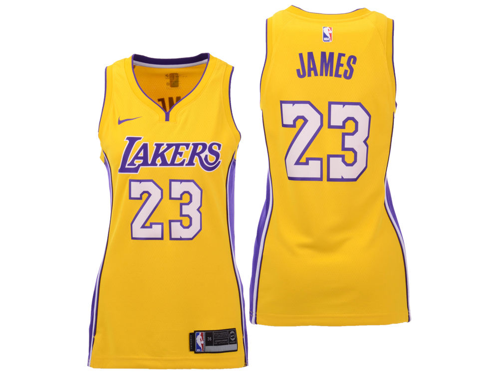 Los Angeles Lakers LeBron James Nike NBA Women s Swingman Jersey ... d44e636d4c08