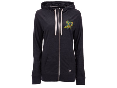 Oakland Athletics 5th & Ocean MLB Women's Tri-blend Fleece Full Zip Sweatshirt