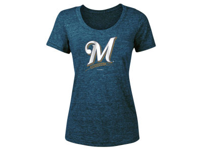 Milwaukee Brewers 5th & Ocean 2018 MLB Women's Tri-Blend Crew T-shirt