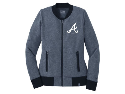 Atlanta Braves 5th & Ocean MLB Women's French Terry Full Zip Jacket
