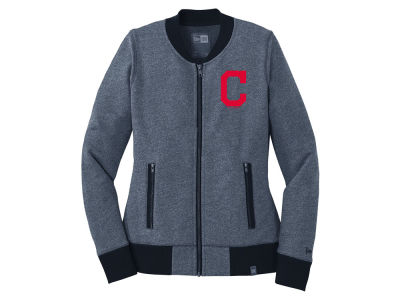 Cleveland Indians 5th & Ocean MLB Women's French Terry Full Zip Jacket