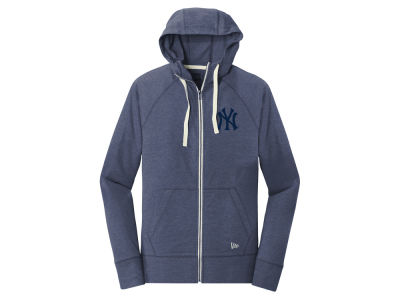 New York Yankees 5th & Ocean MLB Women's Tri-blend Fleece Full Zip Sweatshirt