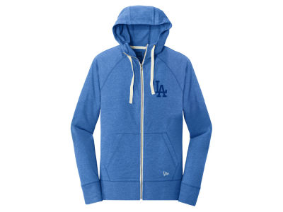 Los Angeles Dodgers 5th & Ocean MLB Women's Tri-blend Fleece Full Zip Sweatshirt