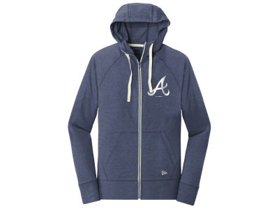 Atlanta Braves 5th & Ocean MLB Women's Tri-blend Fleece Full Zip Sweatshirt
