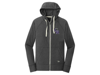 Colorado Rockies 5th & Ocean MLB Women's Tri-blend Fleece Full Zip Sweatshirt