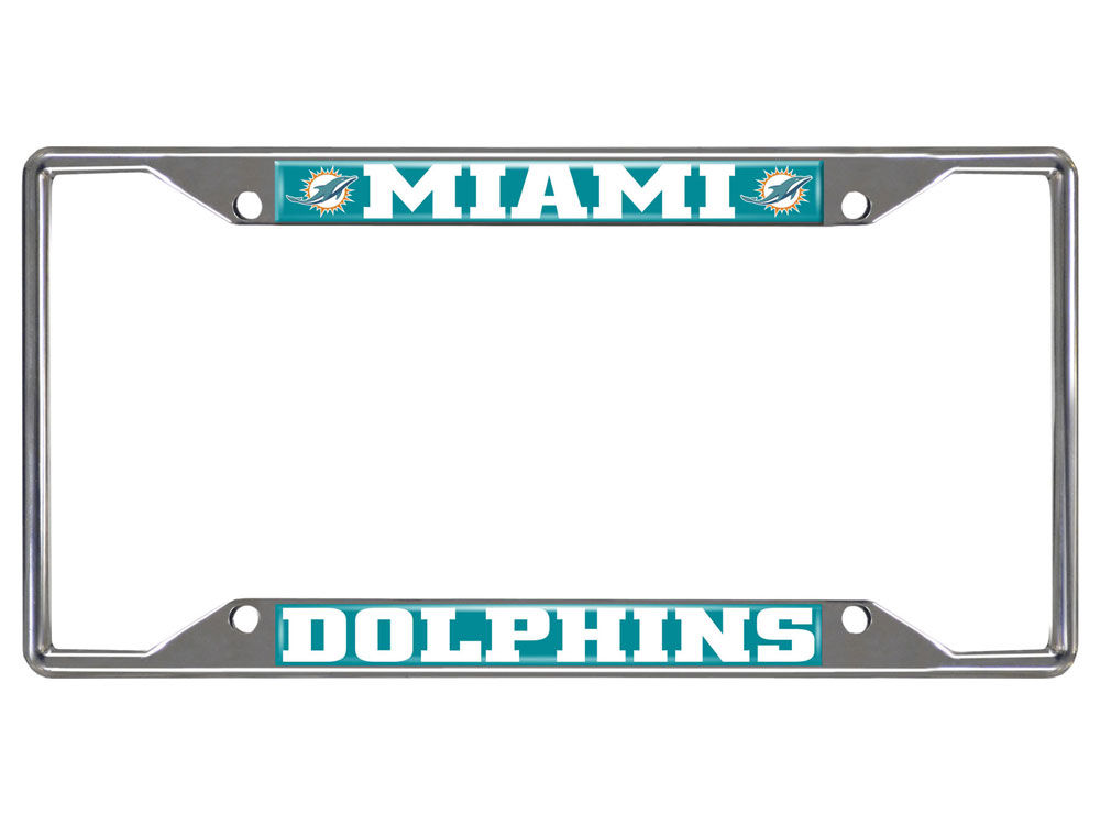 Miami Dolphins Fan Mats License Plate Frame | lids.com
