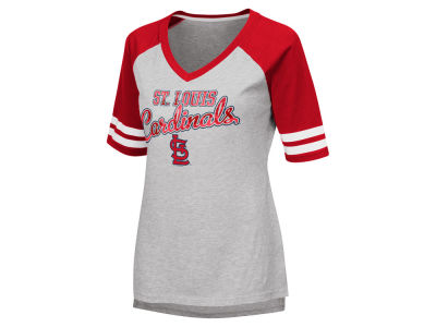 St. Louis Cardinals G-III Sports MLB Women's Goal Line Raglan T-shirt