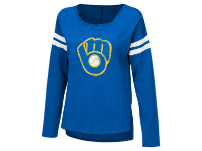 Milwaukee Brewers G-III Sports MLB Women's Free Agent Long Sleeve T-shirt