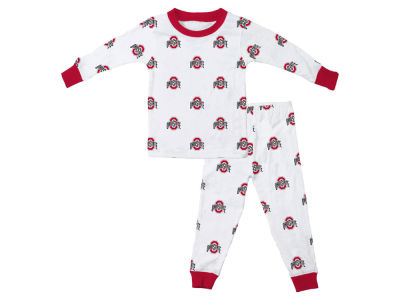 Ohio State Buckeyes Wes and Willy NCAA Infant Allover Print Pajama Set