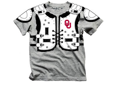 Oklahoma Sooners Wes and Willy NCAA Toddler Shoulder Pads T-Shirt