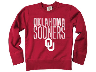 Oklahoma Sooners Wes and Willy NCAA Toddler Crew Neck Sweatshirt