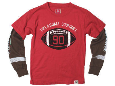 Oklahoma Sooners Wes and Willy NCAA Toddler Football Sleeve 2 In 1 T-Shirt