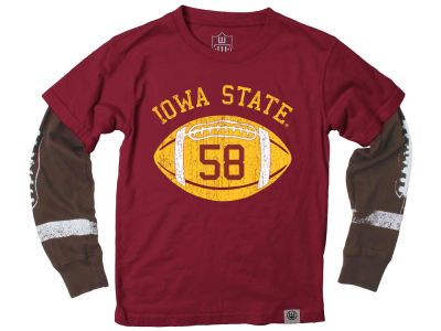 Iowa State Cyclones Wes and Willy NCAA Toddler Football Sleeve 2 In 1 T-Shirt