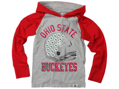 new style 3d952 3ff8c Ohio State Buckeyes Wes and Willy NCAA Toddler Hooded Raglan Long Sleeve T- Shirt