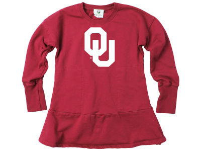 Oklahoma Sooners Wes and Willy NCAA Toddler Girls Fleece Dress