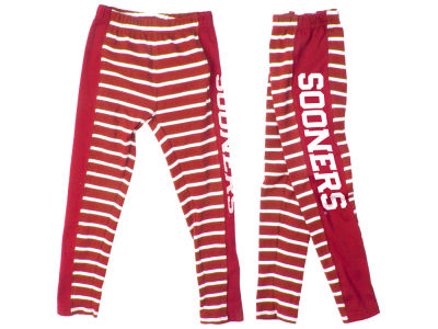 Oklahoma Sooners Wes and Willy NCAA Toddler Girls Striped Legging