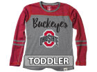 Ohio State Buckeyes NCAA Toddler Girls Heathered Long Sleeve T-Shirt T-Shirts