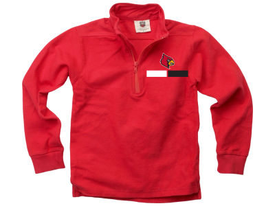 Louisville Cardinals Wes and Willy NCAA Kids Quarter Zip Pullover