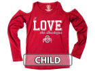 Ohio State Buckeyes NCAA Kids Girls Cold Shoulder Long Sleeve T-Shirt T-Shirts