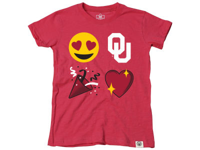 Oklahoma Sooners Wes and Willy NCAA Kids Girls Emoji T-Shirt