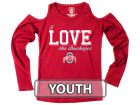 Ohio State Buckeyes NCAA Girls Cold Shoulder Long Sleeve T-Shirt T-Shirts