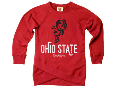 Ohio State Buckeyes Wes and Willy NCAA Youth Girls Crossover Sweatshirt