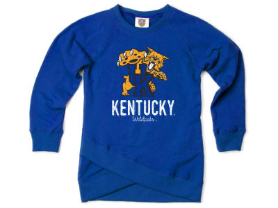 Kentucky Wildcats Wes and Willy NCAA Youth Girls Crossover Sweatshirt