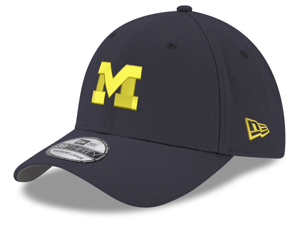 uk availability 694e8 1a78e ... closeout michigan wolverines new era ncaa youth 39thirty cap fa1db 7f626