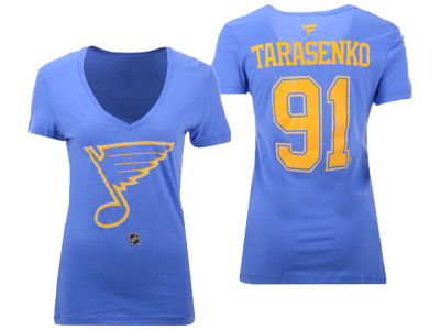 St. Louis Blues Vladimir Tarasenko Majestic NHL Women's Alternative Player T-Shirt