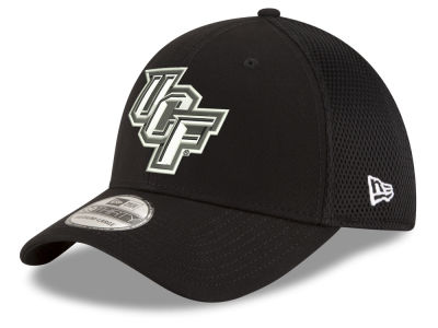 University of Central Florida Knights New Era NCAA Black White Neo 39THIRTY Cap