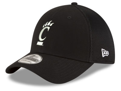 Cincinnati Bearcats New Era NCAA Black White Neo 39THIRTY Cap