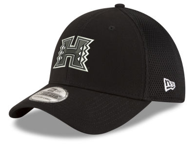 Hawaii Warriors New Era NCAA Black White Neo 39THIRTY Cap