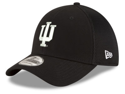 Indiana Hoosiers New Era NCAA Black White Neo 39THIRTY Cap