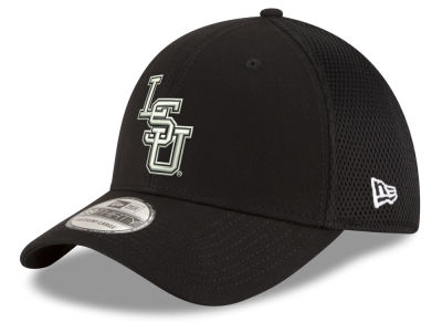 LSU Tigers New Era NCAA Black White Neo 39THIRTY Cap