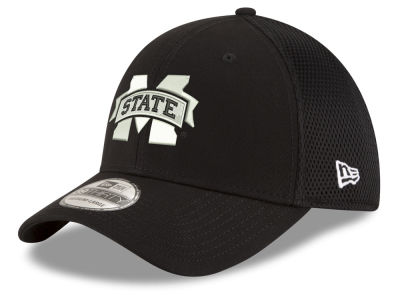 Mississippi State Bulldogs New Era NCAA Black White Neo 39THIRTY Cap