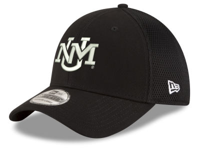 New Mexico Lobos New Era NCAA Black White Neo 39THIRTY Cap