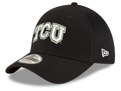 Texas Christian Horned Frogs New Era NCAA Black White Neo 39THIRTY Cap