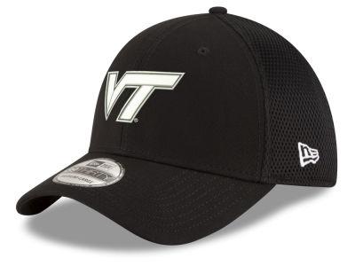 168809abe04 Virginia Tech Hokies New Era NCAA Black White Neo 39THIRTY Cap
