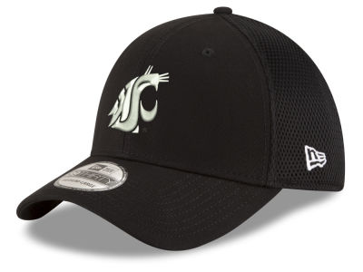 Washington State Cougars New Era NCAA Black White Neo 39THIRTY Cap