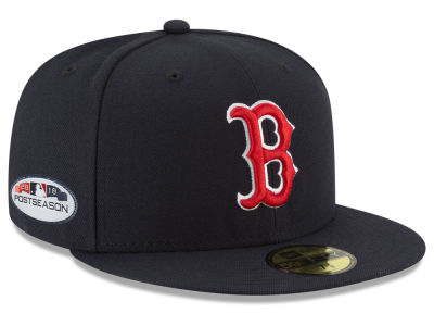 Boston Red Sox New Era 2018 MLB Postseason Patch 59FIFTY Cap