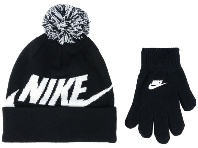 Youth Beanie de Swoosh Pom  & Glove Ensemble