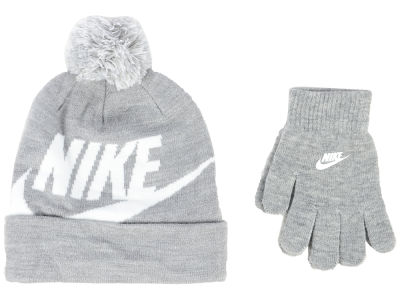 Nike Youth Swoosh Pom Beanie & Glove Set