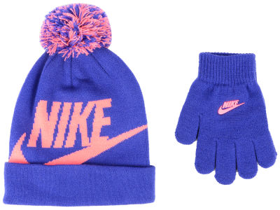 Nike Youth Swoosh Pom Beanie   Glove Set afe0c6454567