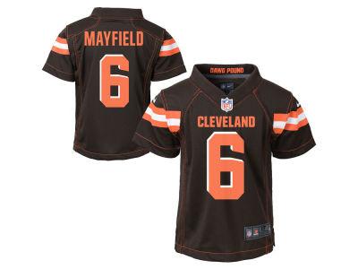 Cleveland Browns Baker Mayfield Nike NFL Kids Game Jersey 724771848