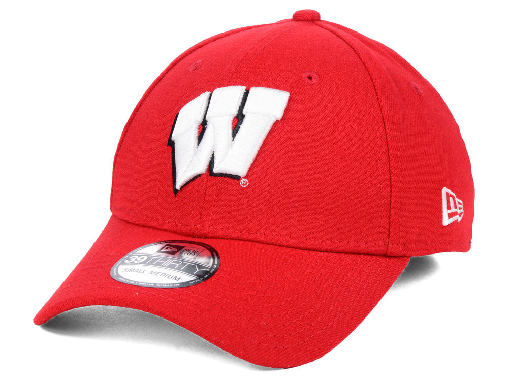 Wisconsin Badgers New Era NCAA College Classic 39THIRTY Cap  20709a22cfe