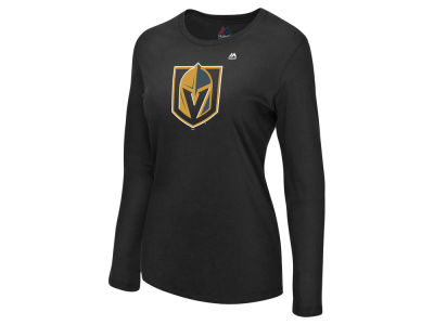 Vegas Golden Knights Majestic NHL Women's Primary Logo Long Sleeve T-Shirt