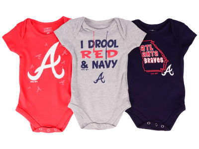 Atlanta Braves Outerstuff MLB Newborn Big Time Fan 3 Piece Set