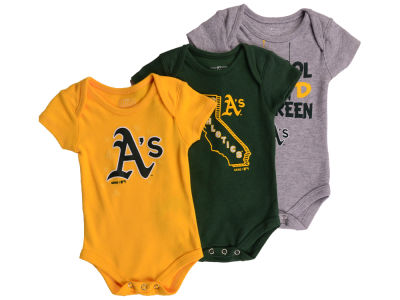 Oakland Athletics Outerstuff MLB Newborn Big Time Fan 3 Piece Set