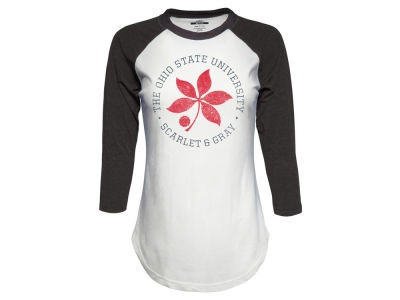 Ohio State Buckeyes Top of the World NCAA Women's Tri-blend Raglan T-Shirt
